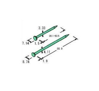 Z太め釘 ZN-40 4.1×88.9mm 頭径8.74mm 2450本(25kg)入 在来工法用Z金物