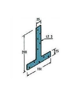 Zかど金物 CP-T 2.3×150×200 100枚入 接合具付 Z金物