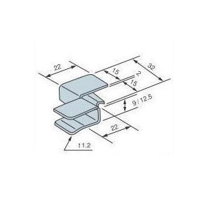 2×4用金物 シーリングクリップ SC-9 1200個入 Cマーク