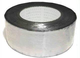 30巻入 アルミテープ ツヤなし 50mm×50mm アルミカットテープ 剥離紙なし