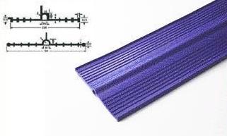 プラス・テク 塩化ビニール止水板 アンカット UC-U 厚み7mm×幅300mm×20m グレー