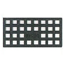 1250個入 レベルサポート調整板 M型 M2 140×70×2mm PP製 黒色 不陸調整板