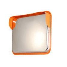 角型カーブミラー アクリル シングル 600×800mm 裏板アルミ製
