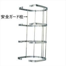杉田エース ACE(241-790)KUステップ27用安全ガード部材 安全ガード柱 3000 ヘアーライン
