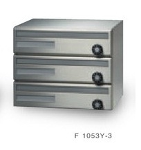 田島メタルワーク F1053Y-3 3段 よこ型 前入前出 多段式 省スペースタイプ myナンバー錠(在庫品)/シリンダー錠(受注生産)