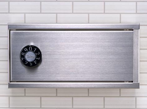田島メタルワーク Type M(myナンバー錠) EZキープボックス[簡易鍵管理箱] ヘアライン