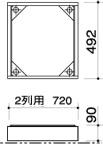 田島メタルワーク ステンレス2列用巾木 FX-UF用巾木 2列 ステンレス ※