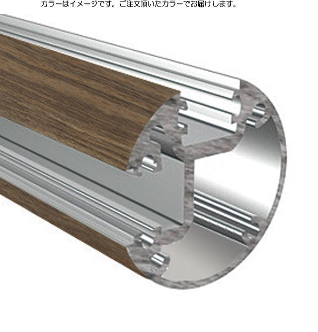 タカショー ビュースルーフェンス用 溝付コーナー柱セット H1000タイプ ブラウンエボニー
