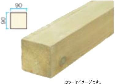 ※タカショー EUB-3827 e-ウッド部材 38×38×2700 アジアンブラウン