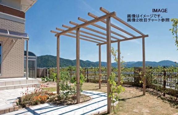 【超目玉】 2SP タカショー クラシックグリーン:家づくりと工具のお店 家ファン! SPW-26CG ストレートパーゴラダブル-エクステリア・ガーデンファニチャー