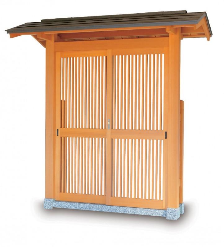 タカショー SKY-4D 数寄屋門4型 カラー鋼板一文字葺き 帯入千本格子タイプ