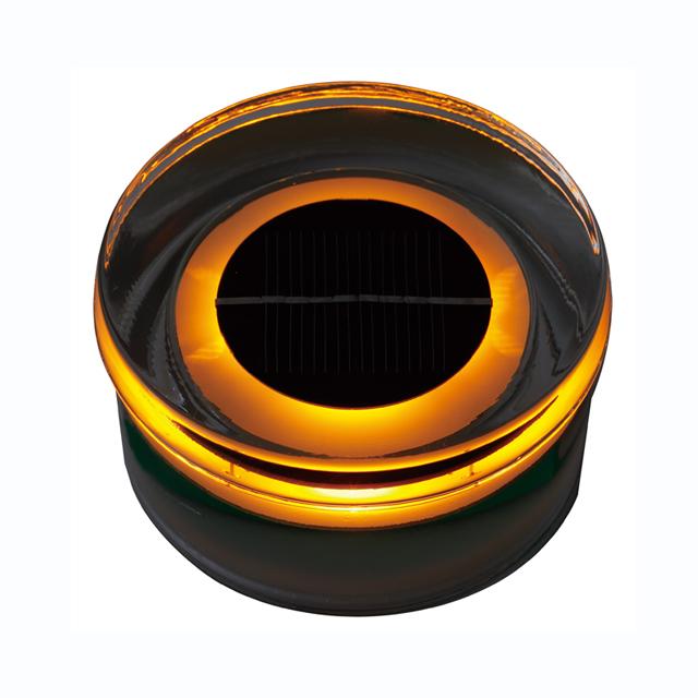 タカショー HCC-O01T タイルドライトソーラー ラウンド (オレンジ)
