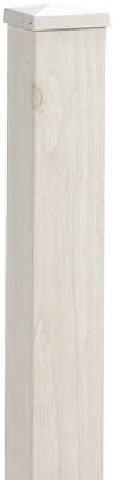 タカショー MPH-TWE e-モクプラフェンス H1400 ホワイトパイン 柱エンド