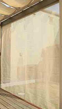 タカショー ロープ式前面スクリーン サンドストーン90% W825×2350