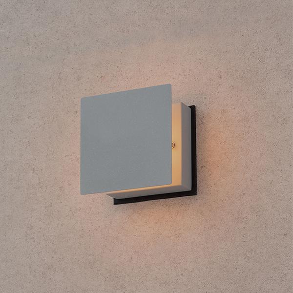 タカショー HGB-H04N 粋 ウォールライト ローボルト(ほのあかり) 銀ねず