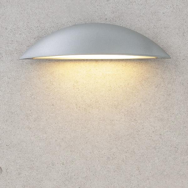 タカショー HFB-D11S シンプルLED ウォールライト5型 シルバー(電球色)