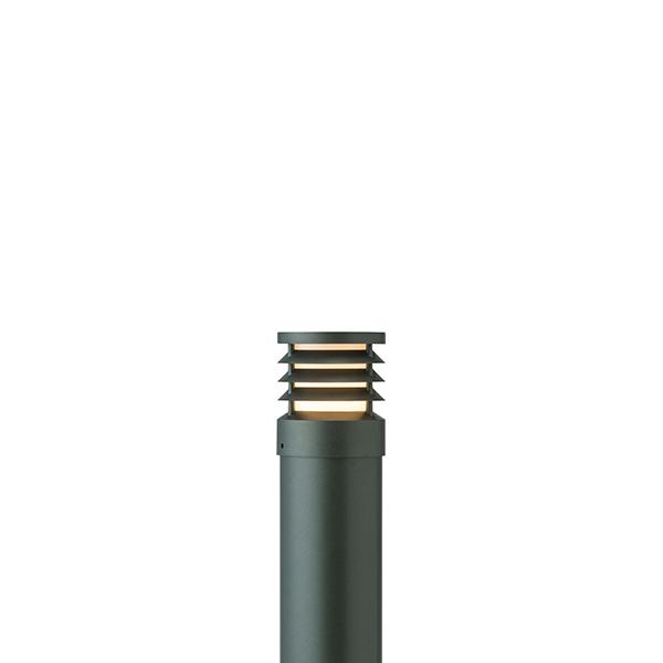 タカショー HFD-D52C スタイルポールライト 20型 ルーバー 100Vチャコールグリーン(電球色)