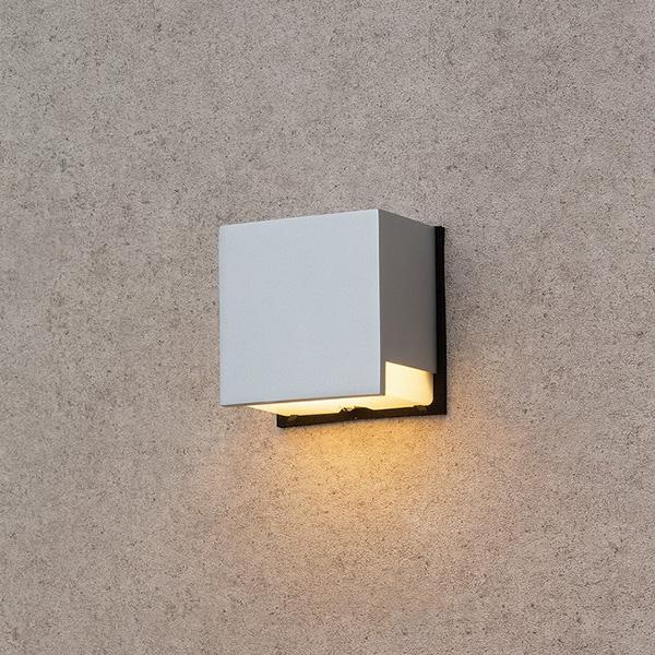 タカショー HBG-D12S ウォールライト 9型 シルバー (電球色)W110×D75×H110
