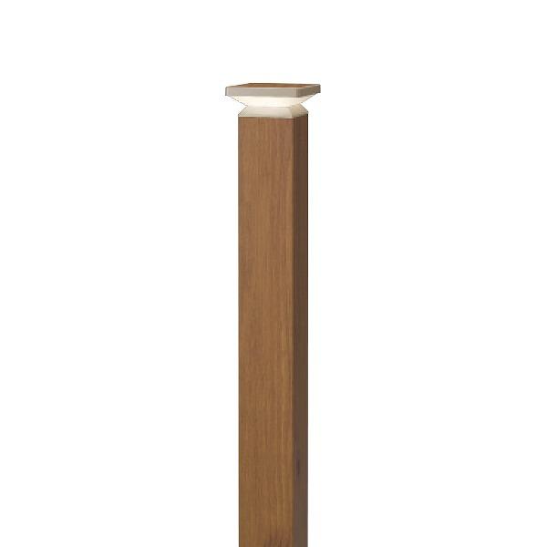 タカショー HBC-D55N エバーアート ポールライト 4型 ナチュラルパイン (電球色) W105×D105×H840