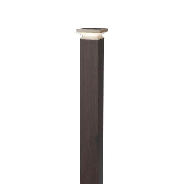 タカショー HFD-D62P エバーアート ポールライト 4型 100V ダークパイン (電球色) W105×D105×H840