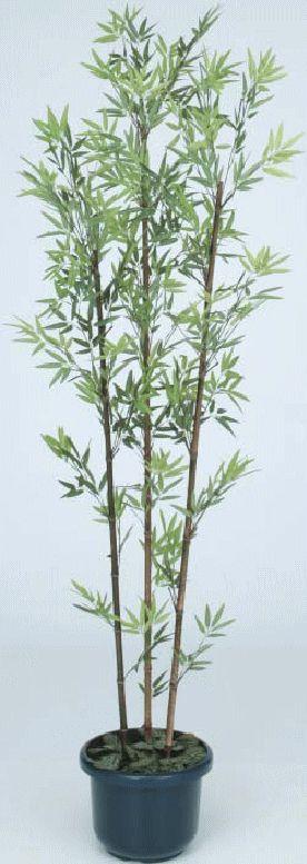 タカショー 【観葉植物・グリーンデコ和風】 黒竹3本立 鉢付き 1.8m メンテが楽でリアルな人工植物 GD-21LH
