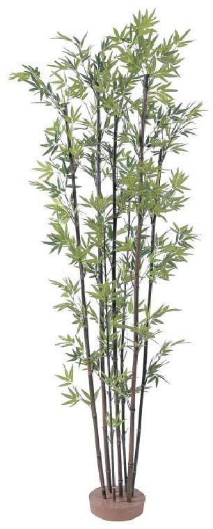 タカショー 【観葉植物・グリーンデコ和風】 黒竹7本立 鉢無し 1.8m メンテが楽でリアルな人工植物 GD-50L