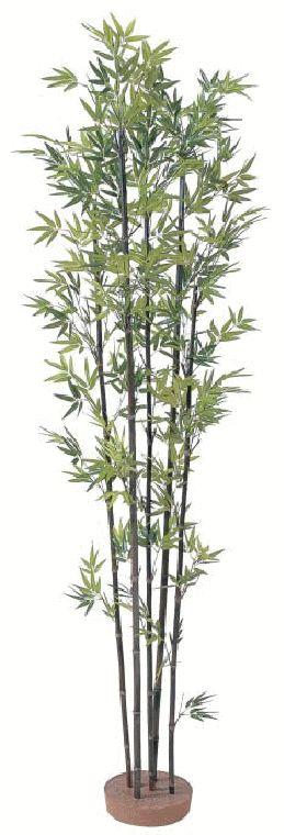 タカショー 【観葉植物・グリーンデコ和風】 黒竹5本立 鉢無し 1.8m メンテが楽でリアルな人工植物 GD-14L
