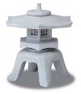 タカショー FRP製手仕上げ人工石 OZA-R2 月見灯篭