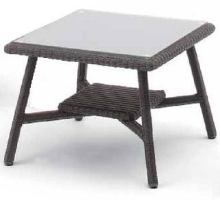 タカショー ロムガーデン 庭座 カフェテーブル600 KFA-T005(ダークブラウン) ※