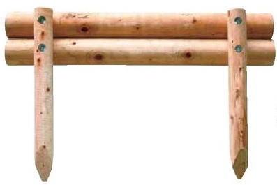 タカショー 二段組木(丸) KBM-25A W1500×H600 φ100 2本入 ※