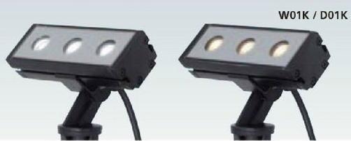 タカショー HFE-W01K/D01K シンプルLEDアップライト4型 100V 各色