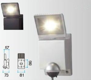 タカショー HIA-W01S/K LEDセンサライト1型 セキュリティーライト 100V 各色