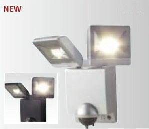 タカショー HIA-W02S/K LEDセンサライト2型 セキュリティーライト 100V 各色