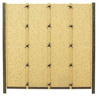 魅力の エバーバンブー タカショー アイボリーさらし:家づくりと工具のお店 家ファン! こだわり竹みす垣扉-木材・建築資材・設備