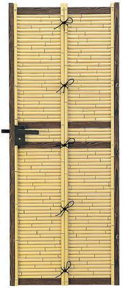 タカショー エバーセット部材 庭扉シリーズ こだわり竹みす垣扉 イエロー AL-31 W700×H1500