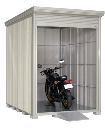 高い素材 BS-Z1826 床付きシャッター式バイクガレージ 結露減少型:家づくりと工具のお店 家ファン!-エクステリア・ガーデンファニチャー