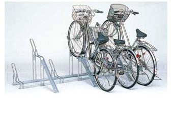 現品限り一斉値下げ! 高低ラック ラック高×3台 ラック低×2台:家づくりと工具のお店 家ファン! CP-CR5H CP-CR型 自転車置場-エクステリア・ガーデンファニチャー