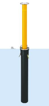 【帝金 Teikin】 バリカー上下式 脱着式カギ付 K-11 スタンダード取替用支柱