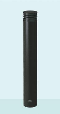 【帝金 Teikin】 バリカー ボラード TPF-07PK メタリックブラック 脱着式カギ付