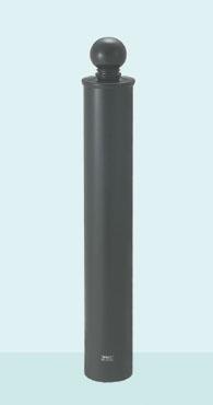 【帝金 Teikin】 バリカー ボラード TPF-05PK ダークグレー 脱着式カギ付