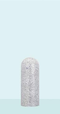 【帝金 Teikin】 バリカー ローボラード W58C-05 白御影石調 脱着式