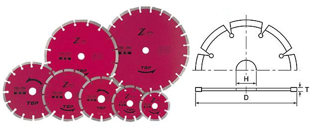TOP トップ工業 TDS-255A ダイヤモンドホイール セグメントタイプ
