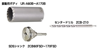 UNIKA ユニカ 多機能コアドリル UR21 UR-A150SD Aシリーズ ALC用 SDS セット品