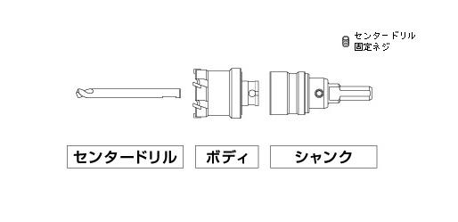 UNIKA ユニカ 超硬ホールソー COM-T30ST トリプルコンボ セット品 口径:30mm
