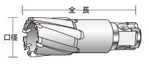 UNIKA ユニカ 超硬ホールソー MX35-22.0 メタコアマックス35(ワンタッチタイプ) 口径:22.0mm