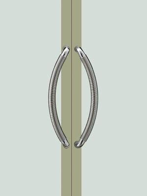 UNION ユニオン ドアハンドル ミドル T7210-01-001 内/外1セット