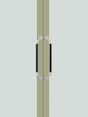 UNION ユニオン ドアハンドル ミドル T8004-26-108 内/外1セット