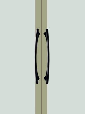 UNION ユニオン ドアハンドル ミドル T6511-25-101 内/外1セット