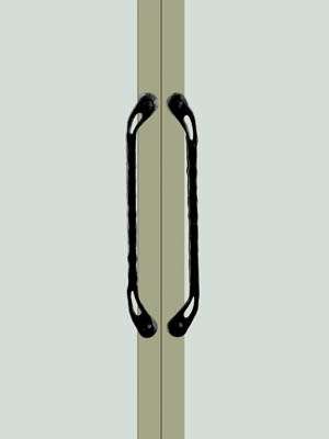UNION ユニオン ドアハンドル ミドル T9962-001 内/外1セット