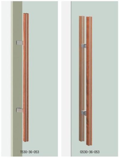 UNION ユニオン ドアハンドル ミドル T530/G530-36-053 内/外1セット